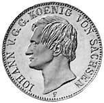 Taler Ausbeutevereinstaler Johann 1857-1858 Vorzüglich