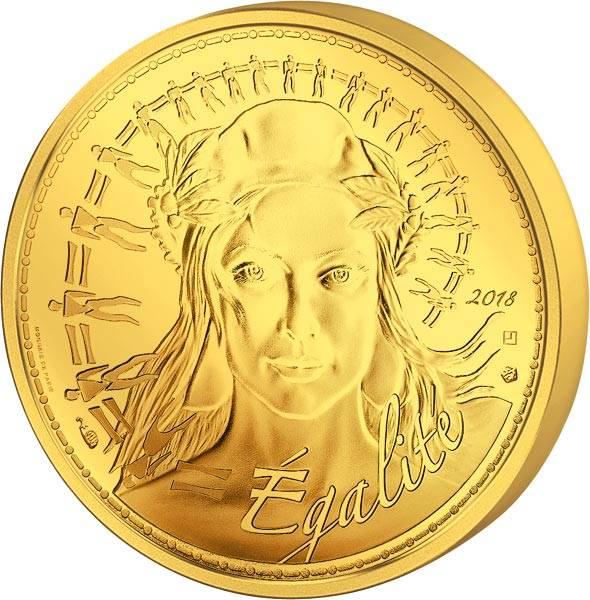 250 Euro Frankreich Marianne Égalité 2018