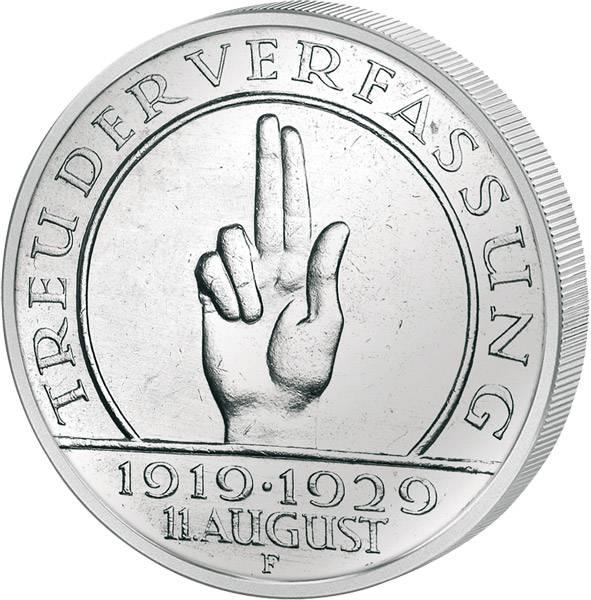 5 Mark Weimarer Republik Verfassung 1929 ss-vz