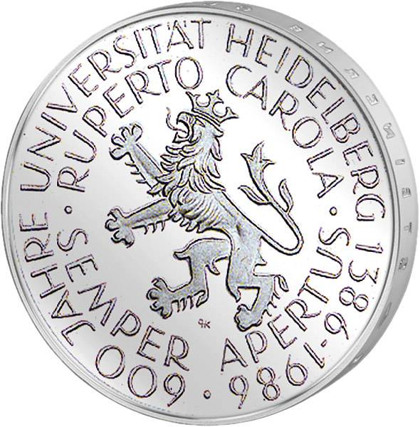 5 DM BRD 600 Jahre Universität Heidelberg