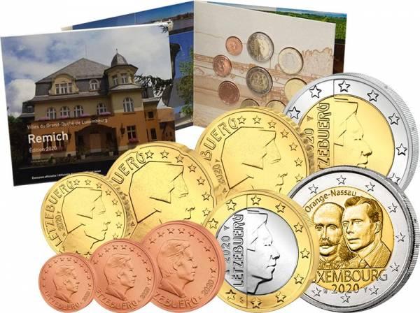 Euro-Kursmünzensatz Luxemburg inkl. 2 Euro Gedenkmünze 2020