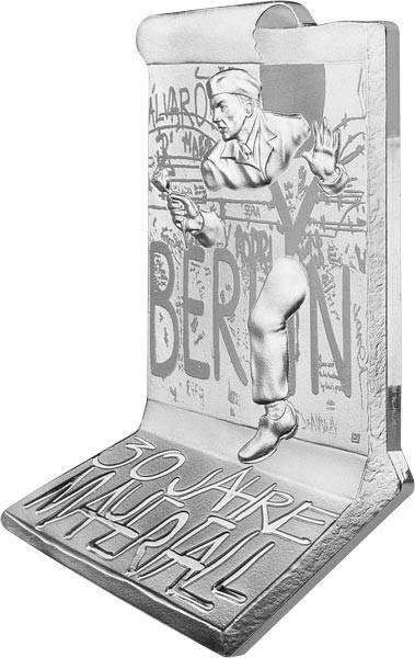 10 Euro Frankreich Kontur-Münze 30 Jahre Fall der Berliner Mauer 2019