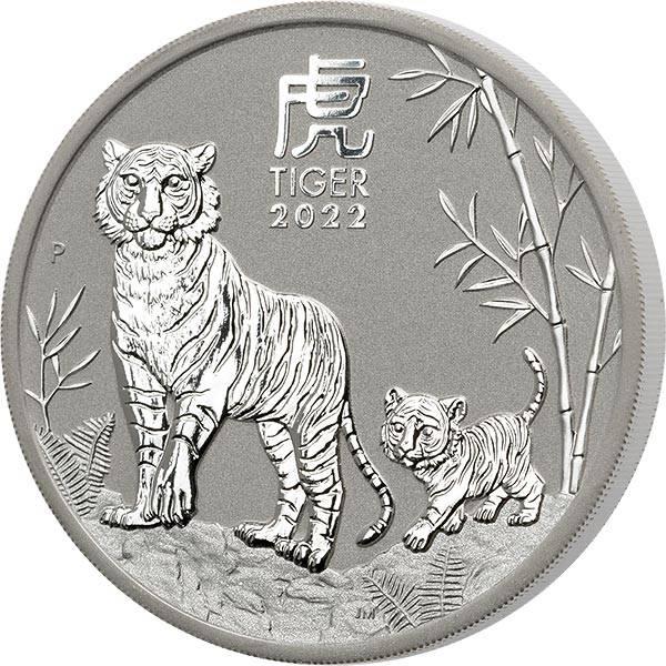 2 Unzen Silber Australien Jahr des Tiger 2022