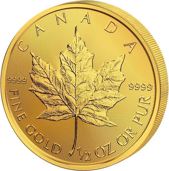 1/2 Unze Gold Kanada Maple Leaf 2018