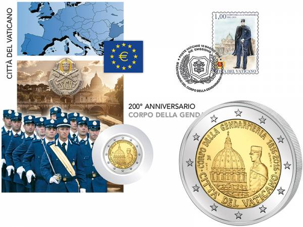 2 Euro Numisbrief Vatikan Gendarmerie 2016