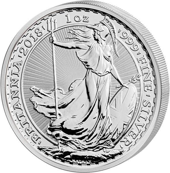 1 Unze Silber Großbritannien Britannia 2018
