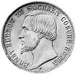 Taler Ernst 1851-1852 Sehr schön