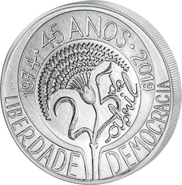 5 Euro Portugal 45 Jahre der Nelkenrevolution 2019