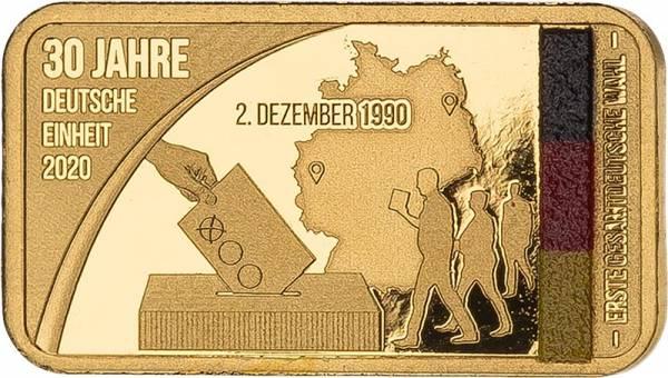 Goldbarren 30 Jahre Deutsche Einheit - Erste gesamtdeutsche Wahl