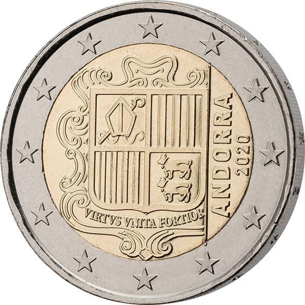 2 Euro Andorra Kursmünze 2020