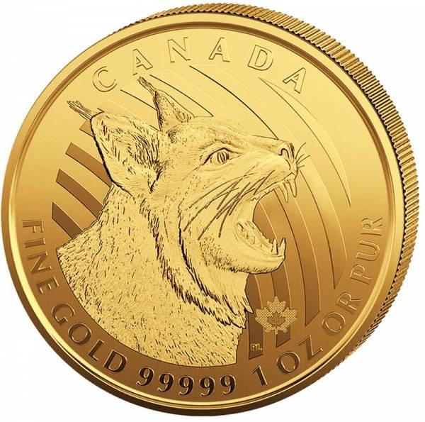 1 Unze Gold Kanada Ruf der Wildnis Rotluchs 2020