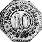 10 Pfennig Schwarzburg-Sonderhausen Wappen o.J. Sehr schön