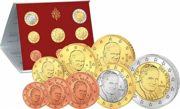 Euro-Kursmünzensatz Vatikan 2008 Ersttags-Edition