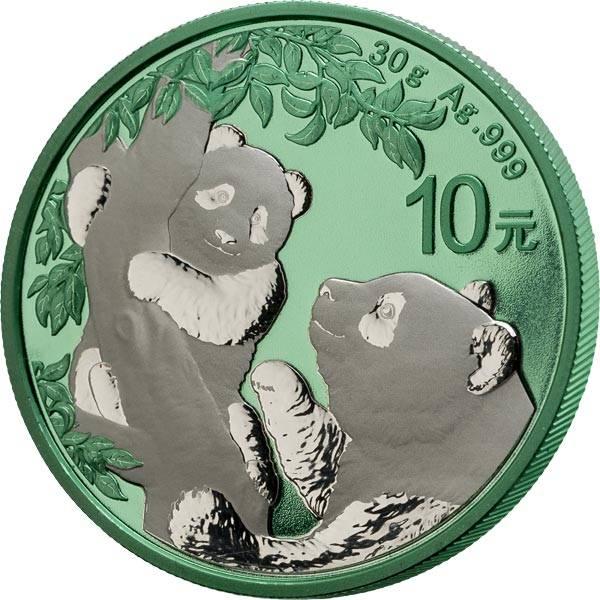 10 Yuan China Panda Space Green 2021
