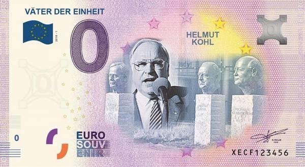 0-Euro-Banknote Helmut Kohl Väter der Einheit 2018