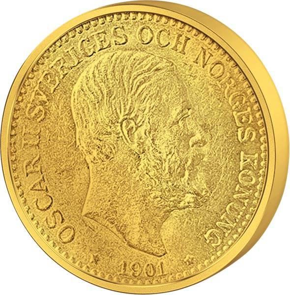 10 Kronen Schweden König Oskar II. 1901