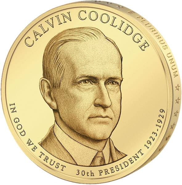 1 Dollar USA Calvin Coolidge 2014 Stempelglanz