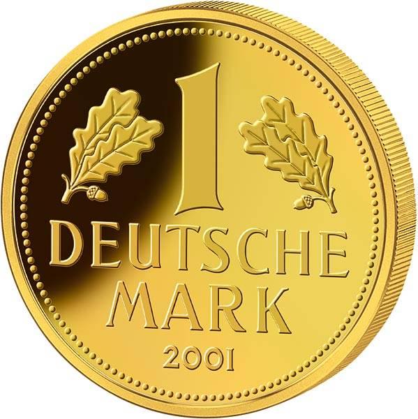1/100 Unze Gold-Gedenkprägung 2021 Replik der Goldmark von 2001