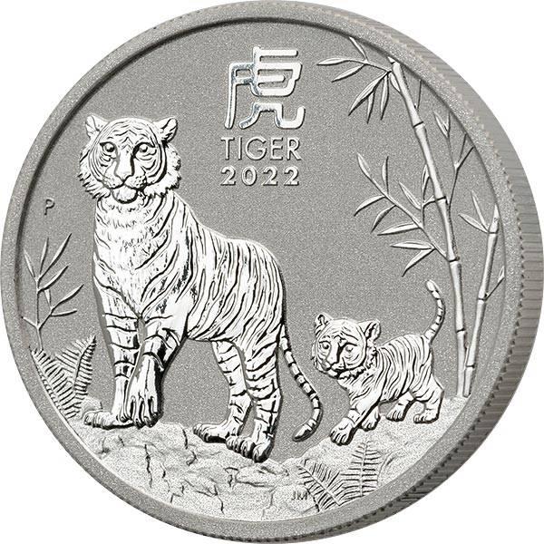 1/2 Unze Silber Australien Jahr des Tiger 2022