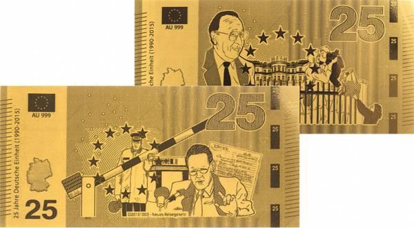 25 Euro Goldnoten-Set Prager Botschaft und neues Reisegesetz
