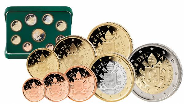Euro-Kursmünzensatz Vatikan 2018 inklusive 50-Euro-Goldgedenkmünze