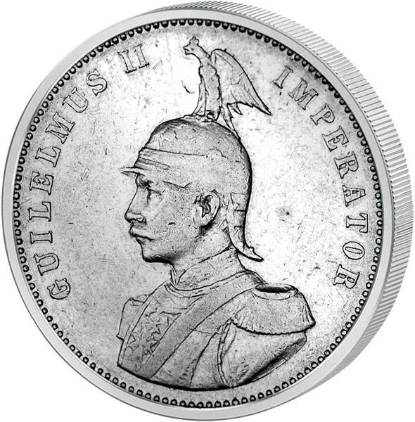 1 Rupie Wilhelm II. 1904-1914 Deutsch Ostafrika ss-vz