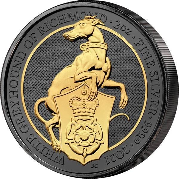 2 Unzen Großbritannien Windhund von Richmond 2021 Golden Enigma Premium Edition