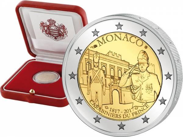 2 Euro Monaco 200 Jahre Fürstliche Karabinierskompanie 2017