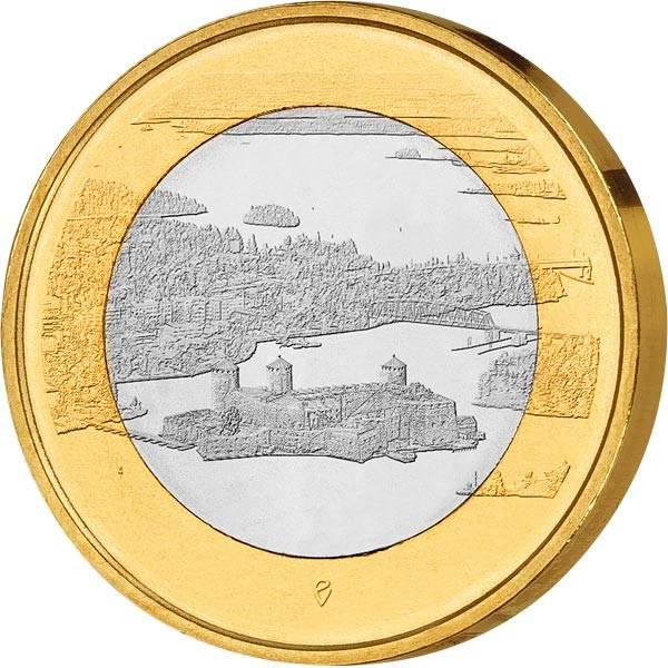 5 Euro Finnland Burg Olavinlinna 2018