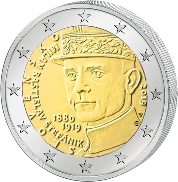 2 Euro Slowakei 100. Todestag von Milan Rastislav Stefanik