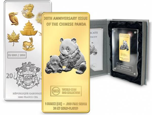 World Coin Bar 2012 30 Jahre China-Panda