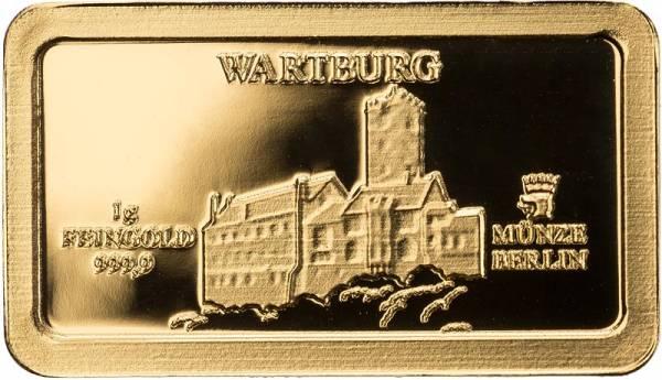Goldbarren Deutsche Wahrzeichen Wartburg