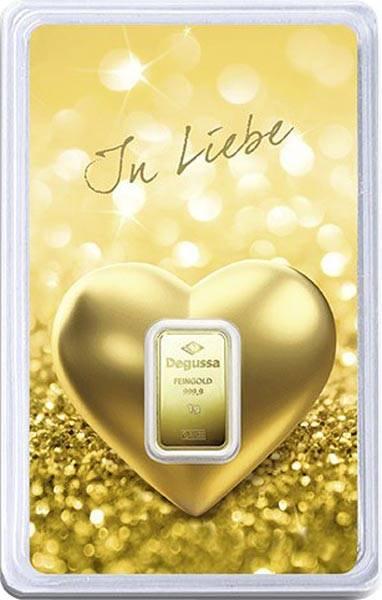 1 Gramm Goldbarren In Liebe