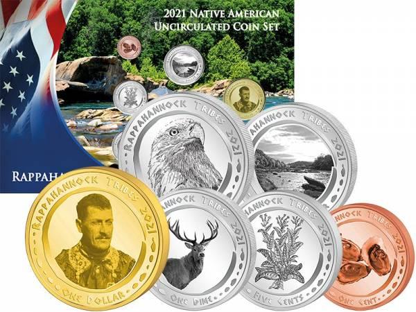 1 Cent - 1 Dollar Kursmünzensatz USA Kursmünzen der Rappahannock 2021