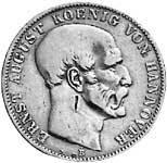 Taler Ausbeutetaler Ernst August 1850-1851  ss-vz