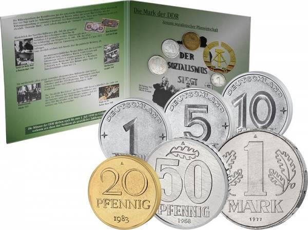 1 Pfennig - 1 Mark Kursmünzensatz DDR 1952-1990