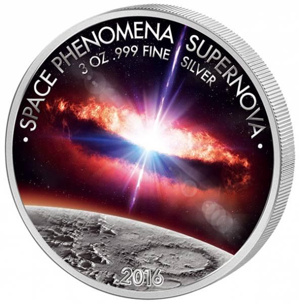 3 Unzen Silber CFA Benin Supernova 2016