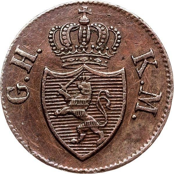 1 Heller Hessen-Darmstadt Großherzog Ludwig II 1824-1847