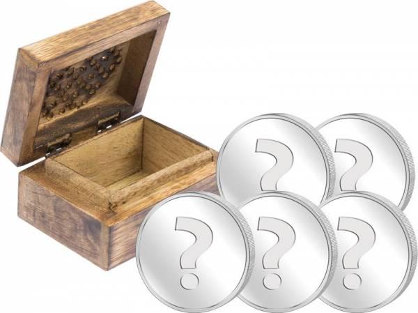 Schatztruhe mit Silbermünzen-Set