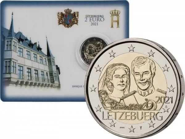 2 Euro Luxemburg 40. Hochzeitstag von Großherzogs Henri 2021