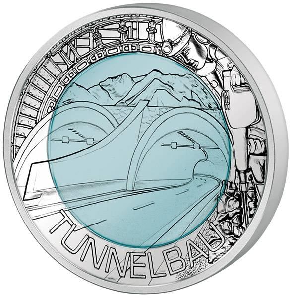 25 Euro Österreich Tunnelbau 2013
