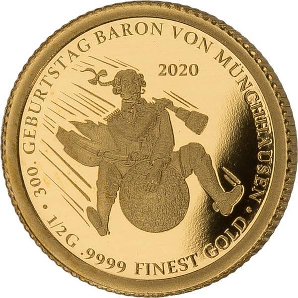 3.000 Francs Tschad 300. Geburtstag Baron von Münchhausen 2020