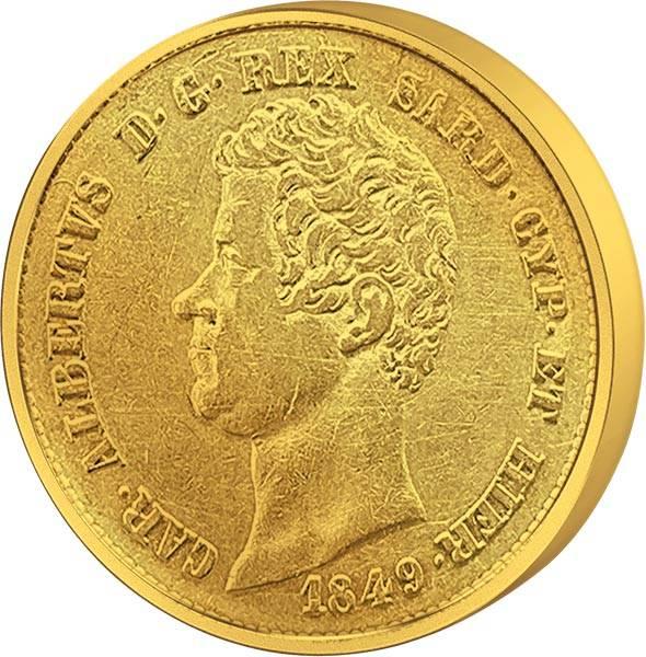 20 Lire Italien König Karl Albert 1831-1849