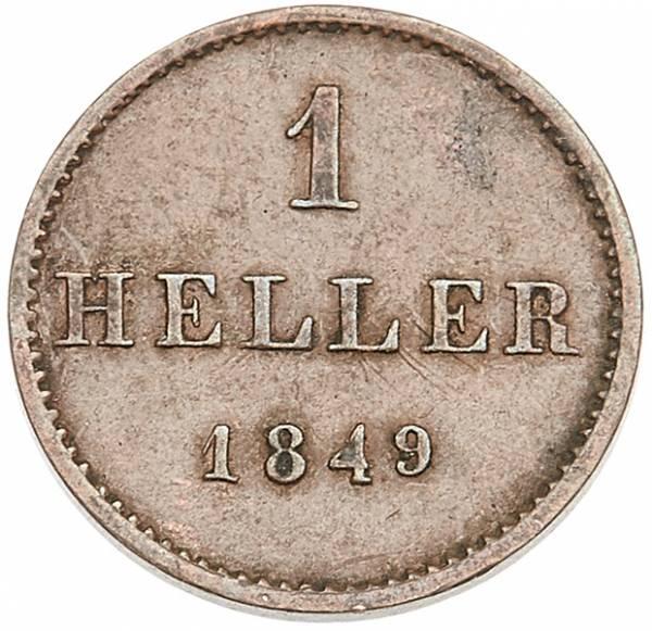1 Heller Freie Reichsstadt Frankfurt 1841-1852
