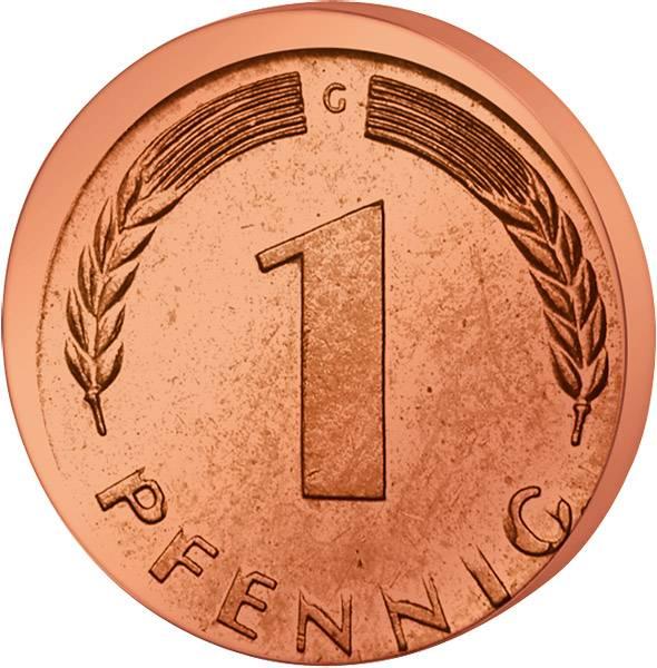 1 Pfennig BRD 1950     vorzüglich-Stempelglanz