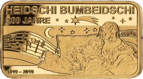 Goldbarren 200 Jahre Heidschi Bumbeidschi