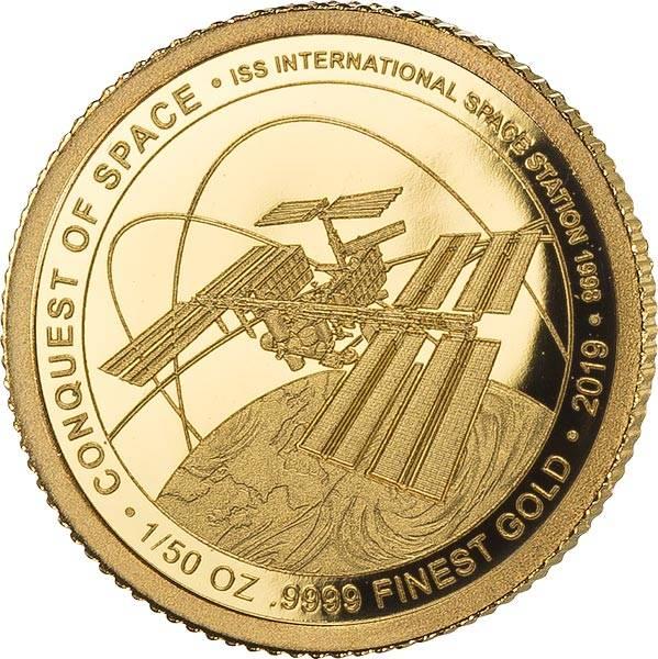 100 Francs Elfenbeinküste Internationale Raumstation 2019