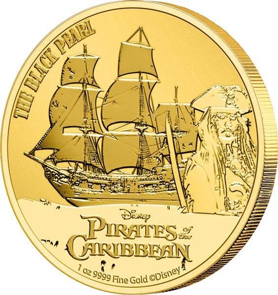 1 Unze Gold Niue Black Pearl 2021