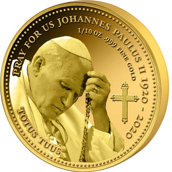 100 Francs Kongo Johannes Paul II. mit Rosenkranz