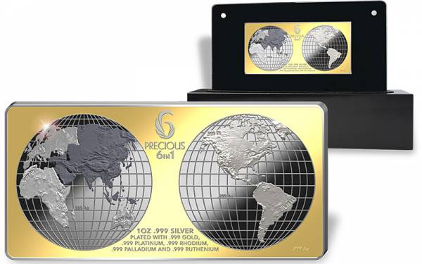 10 Dollars Salomon Inseln Precious  6 in 1 2013 Polierte Platte